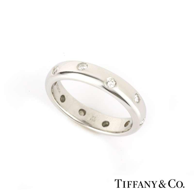 Tiffany & Co. Etoile Diamond Wedding Band in Platinum